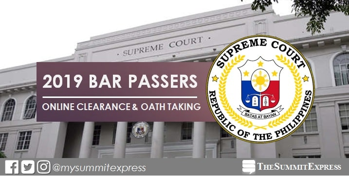 2019 bar exam passers online clearance, oathtaking