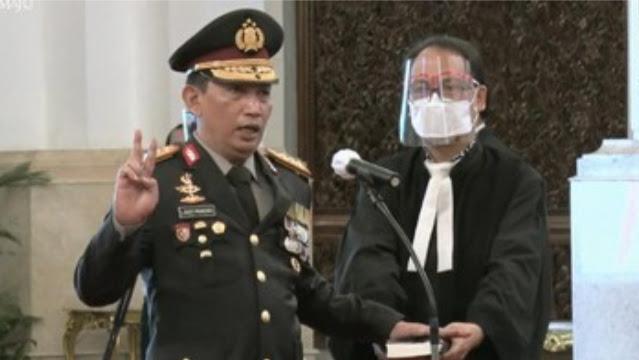 Resmi, Jenderal Listyo Sigit Prabowo Dilantik Jadi Kapolri