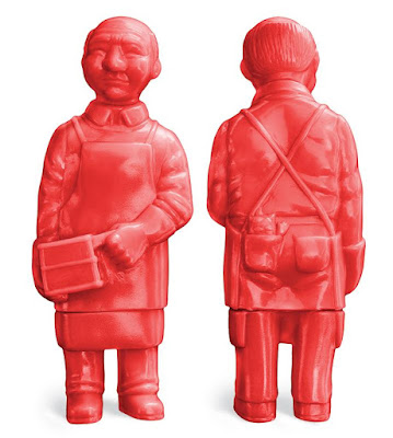 Japanese American National Museum Exclusive Sofubi-man Lucky Red Edition Vinyl Figure by Mark Nagata x Max Toy Company