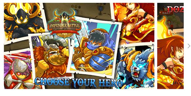 Defender battle: Hero Kingdom Wars — Strategy Game[Normally  $0.99]