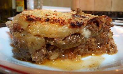 Moussaka sin lactosa y sin gluten.