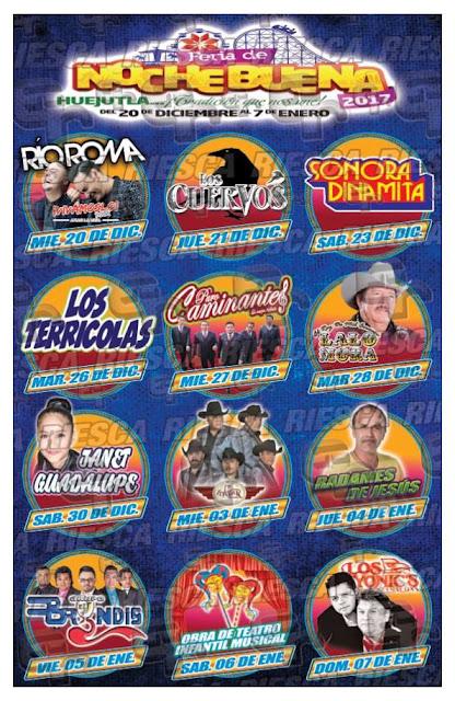 teatro del pueblo feria de nochebuena huejutla 2017