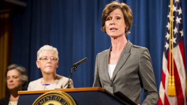 إقالة القائمة بأعمال وزير العدل الأمريكي بعد رفضها تنفيذ المرسوم الرئاسي للهجرة