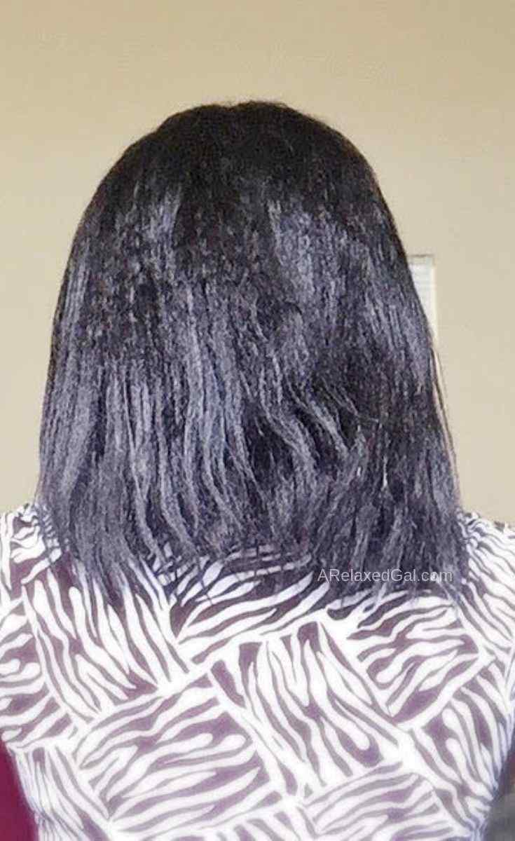 Doing a Hot Oil Treatment on Relaxed Hair 11 Weeks Post | A Relaxed Gal