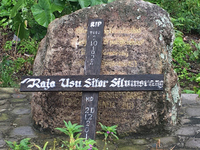 River stone grave of Sitor Situmorang