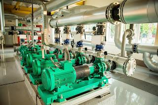industrial motor pump assembly