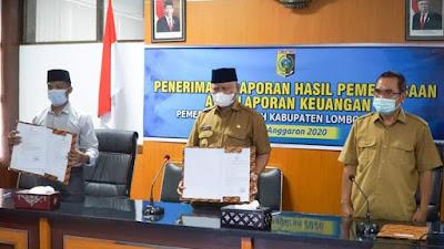 Lombok Timur Kembali Raih WTP Atas LKPD Tahun 2020