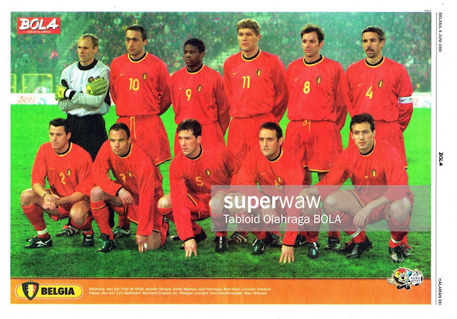 BELGIUM FOOTBALL TEAM SQUAD 2000