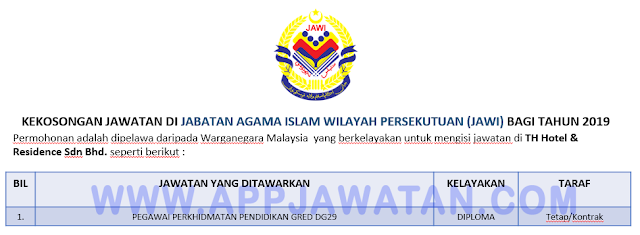 Jabatan Agama Islam Wilayah Persekutuan (JAWI)