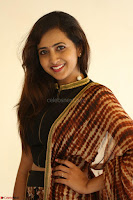 Lasya looks super cute in black choli Saree at Raja Meru Keka Press Meet ~  Exclusive 078.JPG