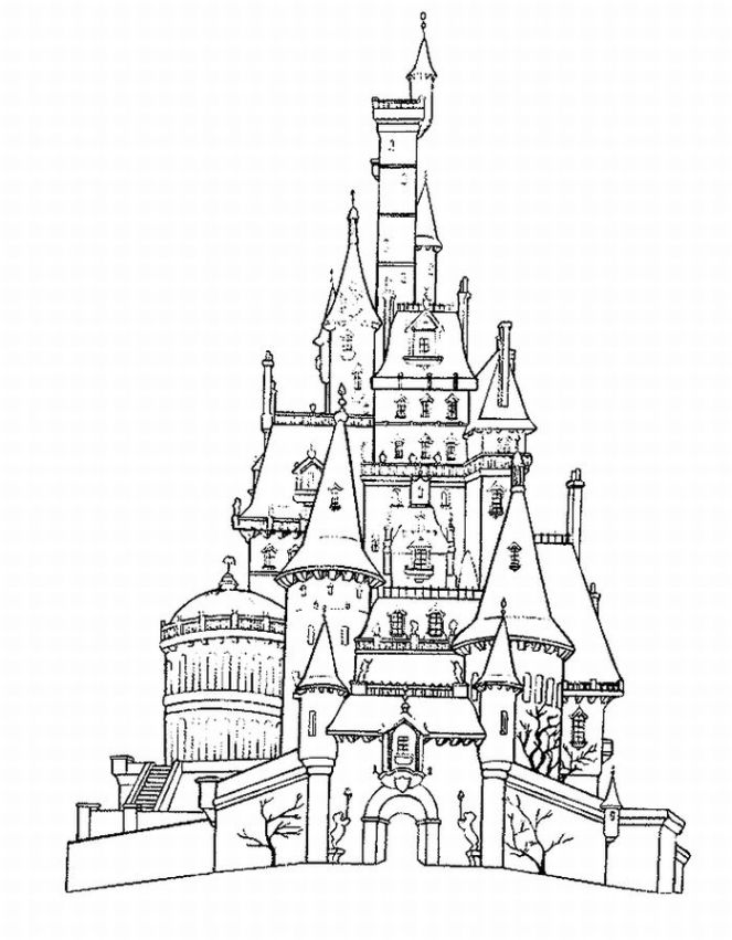 Printable Castle Coloring Pages For Kids | 851x663