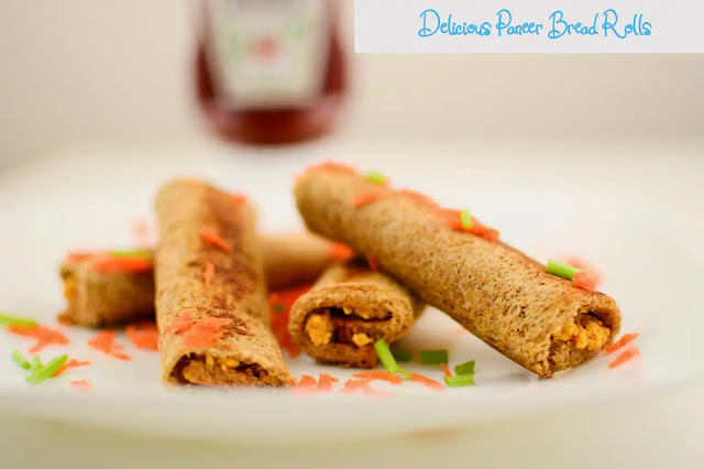 How to make Delicious Paneer Bread Rolls at Home