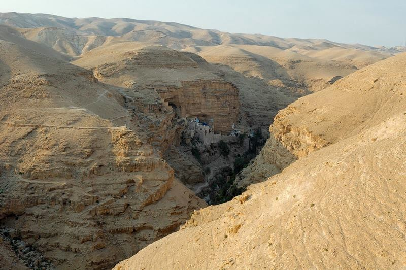 The Hanging Monastery of St. George's | The Judean Desert Valley of Wadi Qelt, Israel