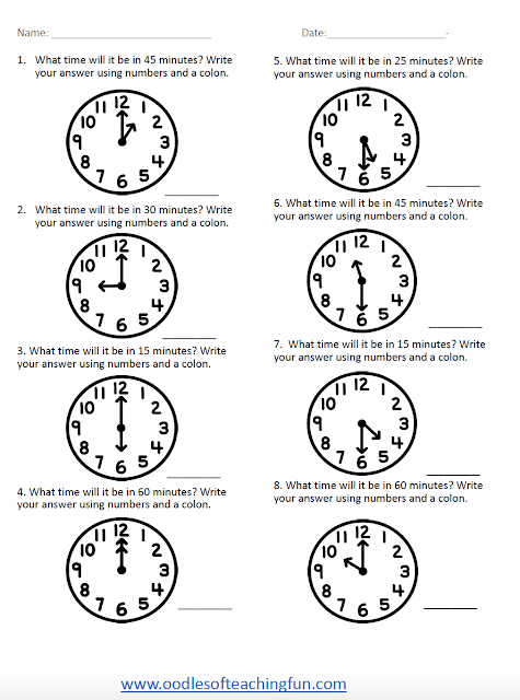 Free Elapsed Time Printable Practice