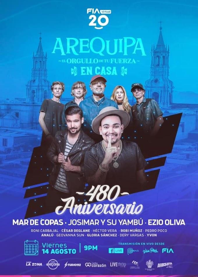 Serenata Arequipa 2020, Mar de Copas, Josimar y su Yambú, Ezio Oliva - 14 de agosto