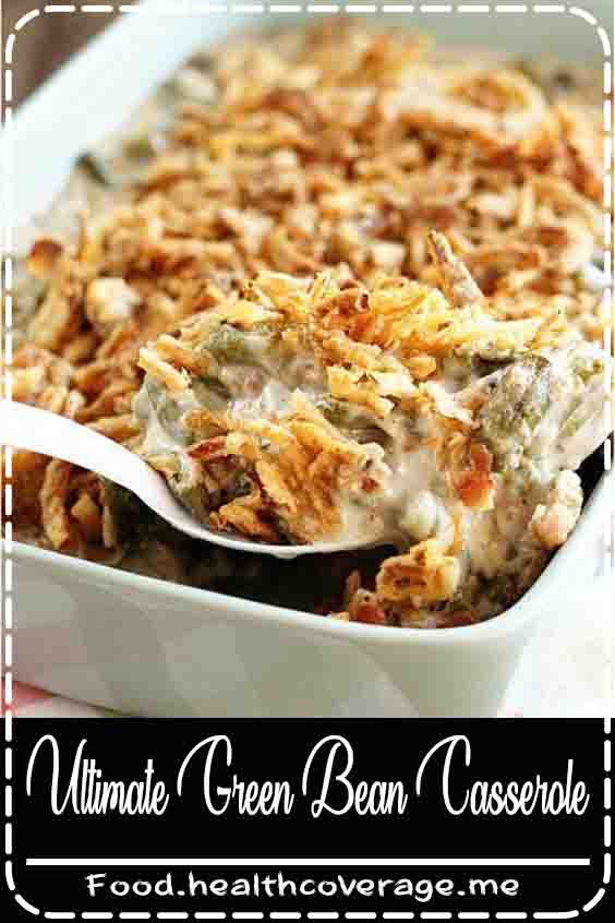 This recipe for Green Bean Casserole takes the classic dish up a notch by adding bacon, mushrooms, and cheese! It's a new Thanksgiving must-have.
