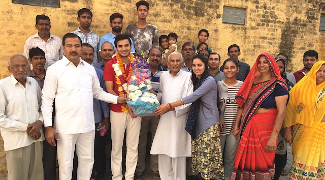 Baroula Panchayat congratulates Anoop Vashish on being elected president of YMCA
