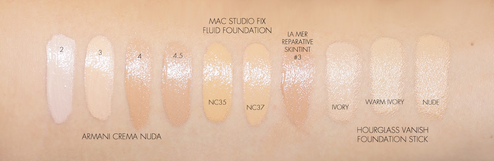 Mac Studio Fix Fluid Foundation Shades