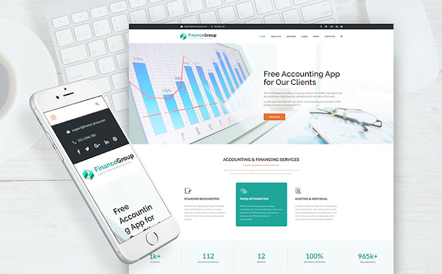 roup - Finance and Accounting WordPress Theme