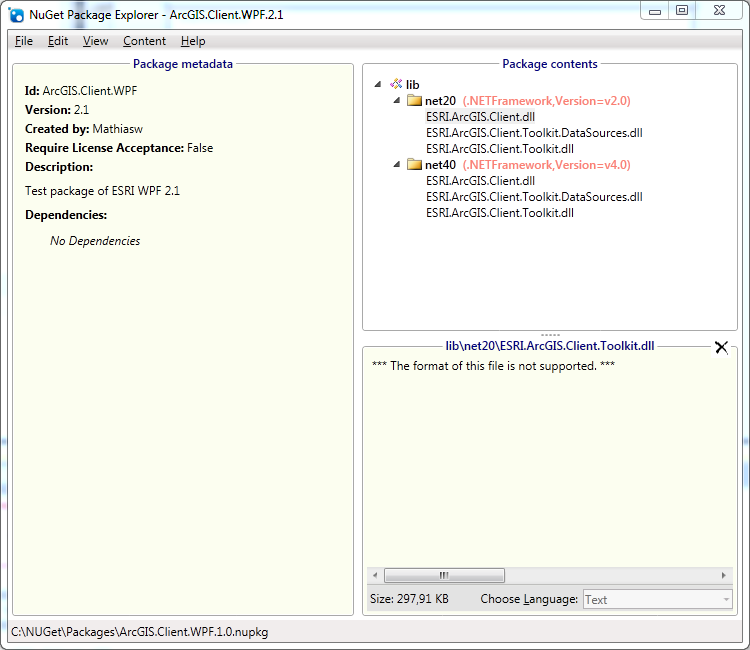 MathiasWestin: Using NuGet to package ArcGIS WPF references