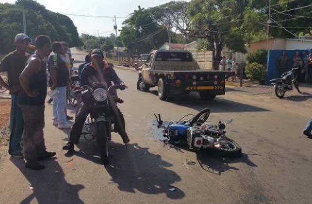 Persecución motorizada terminó en accidente en San José de Perijá