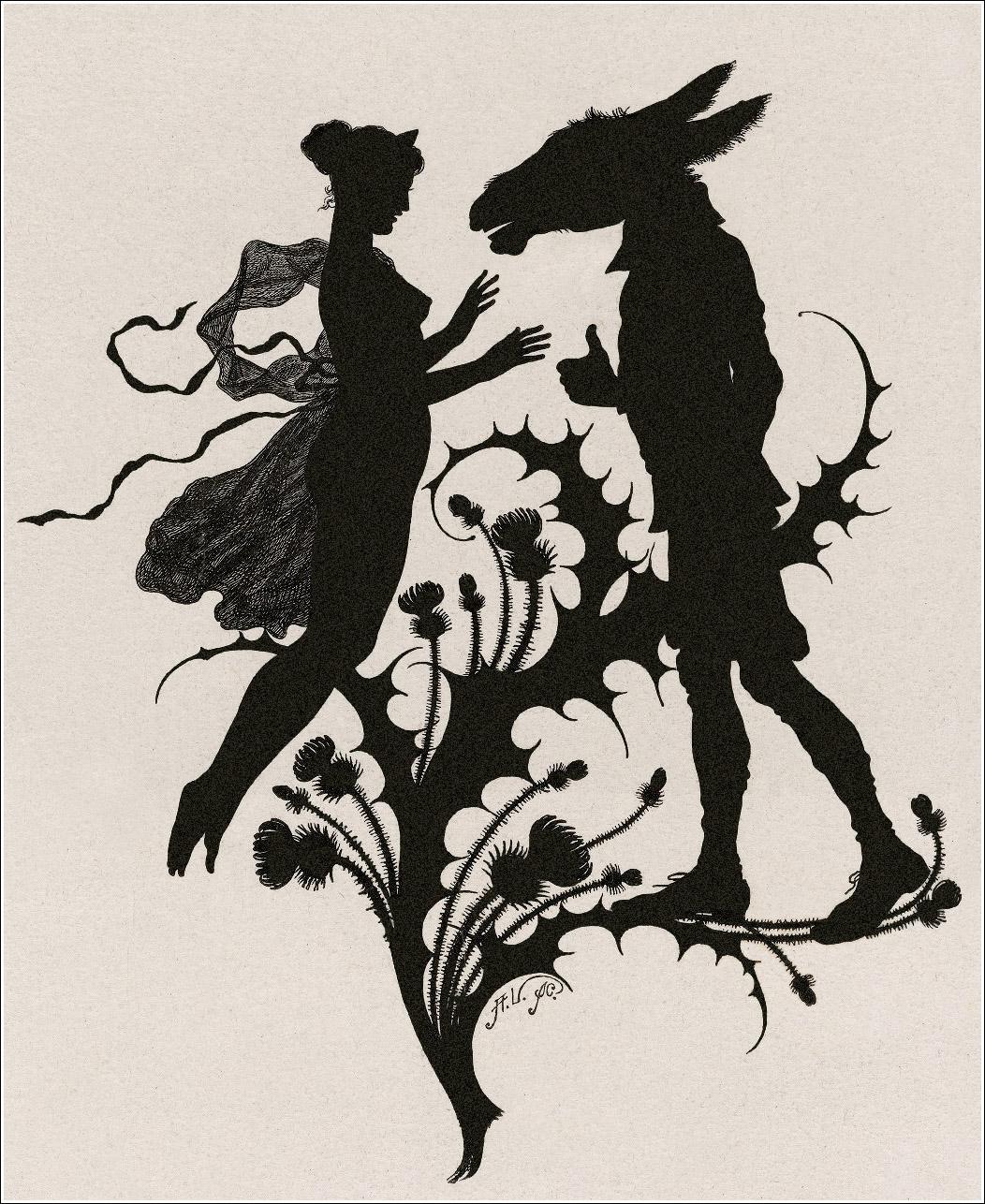 Black And White Midsummer Fairies