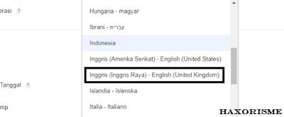 Mengubah Bahasa