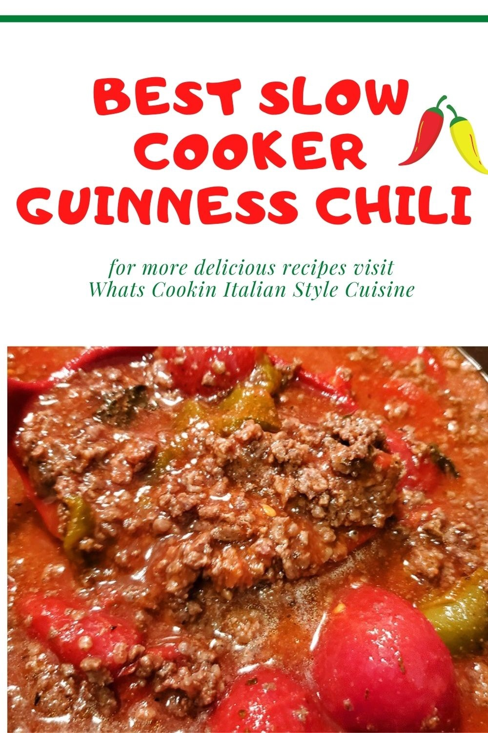 this is a pin for later Guinness Chili