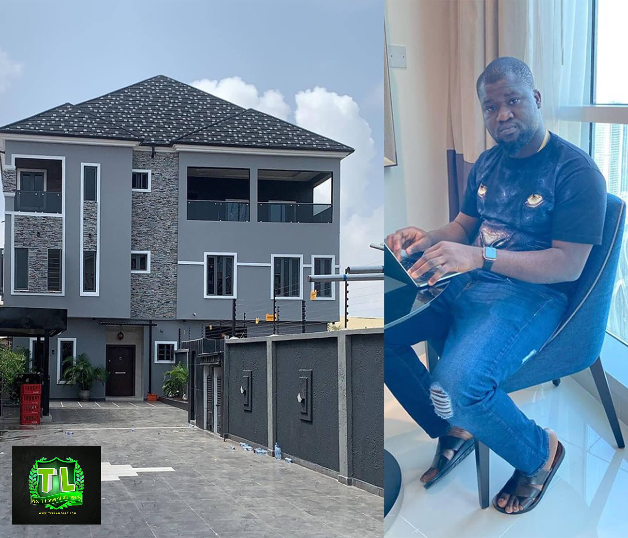 Congratulations-Nigerian-Blogger-Makinde-Azeez-Acquired-Brand-New-Mansion-Teelamford