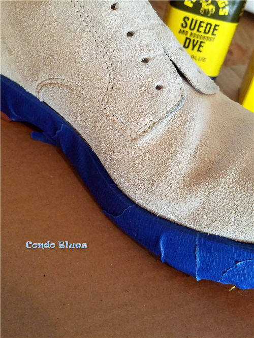 how to protect shoe soles from dye and polish