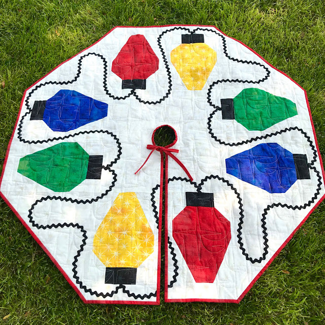 """A Lightbulb Moment"" Tree Skirt By Thistle Thicket Studio. www.thistlethicketstudio.com"