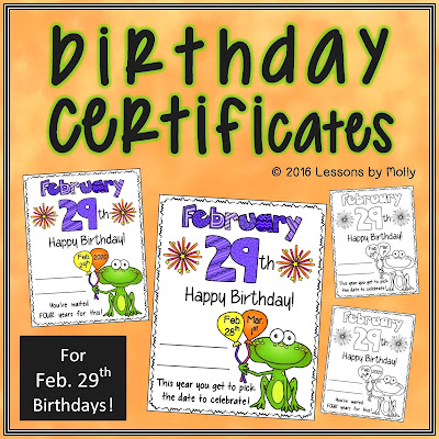 https://www.teacherspayteachers.com/Product/Leap-Day-Birthday-Certificate-2403380