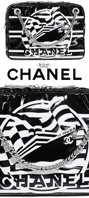 Brilliant Luxury♦Chanel Camera Case Bag in #black and #white
