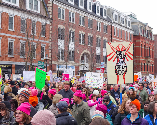 Portsmouth, New Hampshire January 2017 photos by Corey Templeton of the Women's March in Market Square.