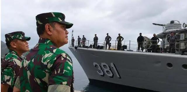 Kapal China Terus Bertahan, TNI Tambah Kekuatan Di Natuna