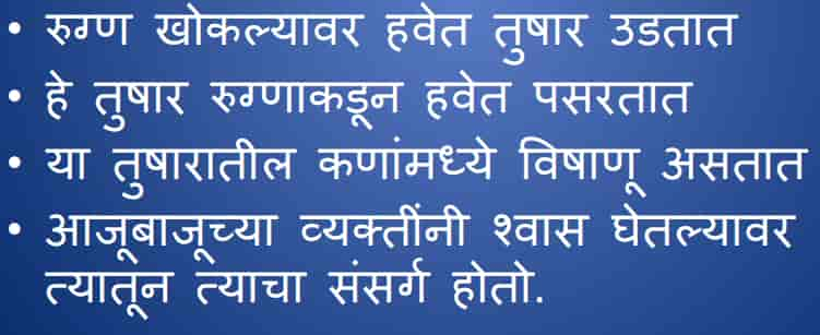 Symptoms of Coronavirus in Marathi