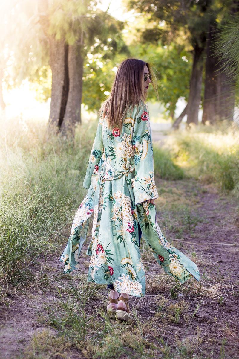 kimono floral zara