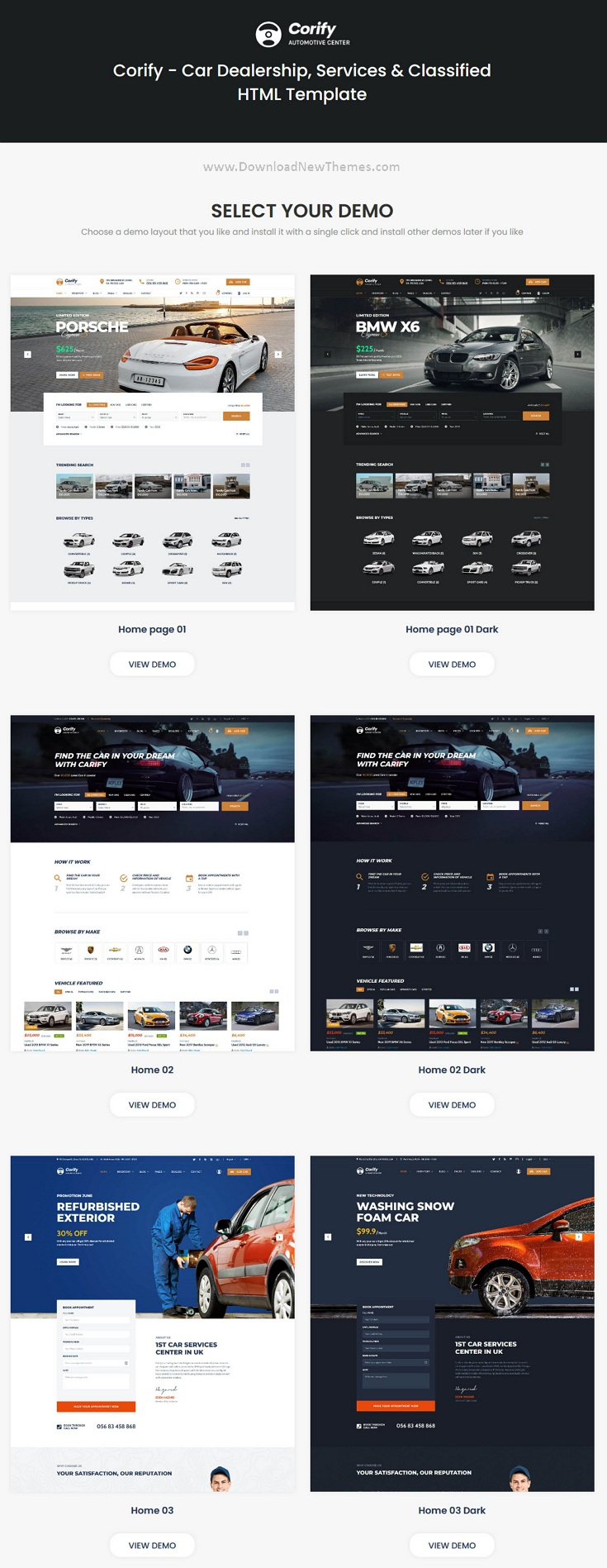 Car Dealership, Services & Classified HTML Template