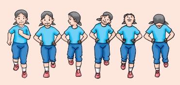 Variasi Langkah dan Ayunan Lengan pada Aktivitas Gerak Berirama