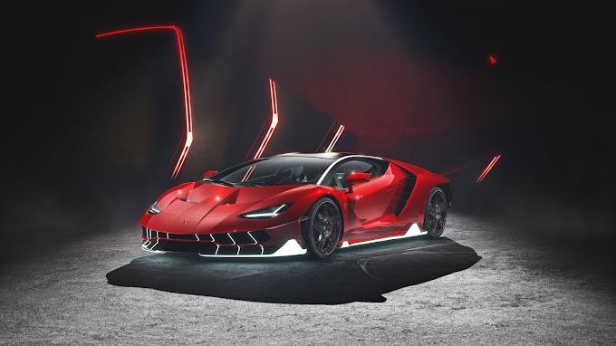 Plano de Fundo Lamborghini Vermelha Hd