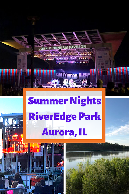 Evening Summer Concert at RiverEdge Park in Aurora, Illinois: Perfect End to a Summer Day