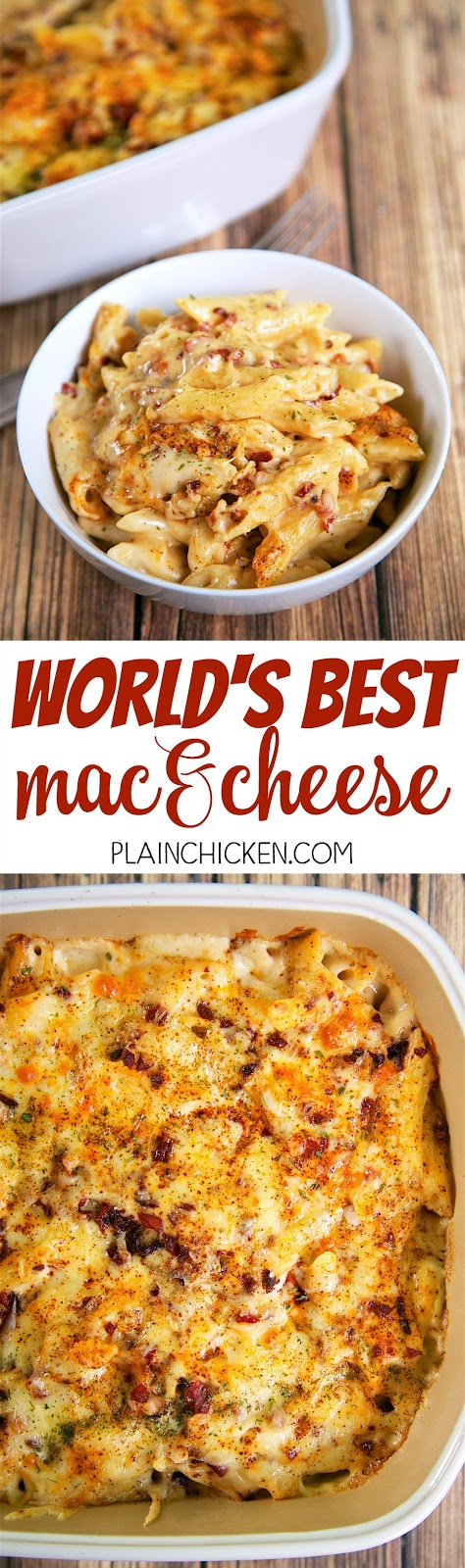 World's Best Mac and Cheese - so creamy, cheese and delicious! Just ...