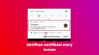 Cara Mengaktifkan Notifikasi Story Instagram Orang Lain
