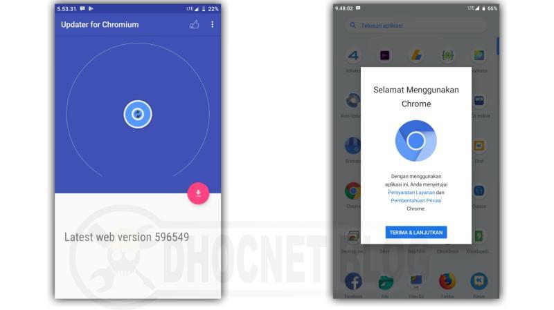 chromium browser untuk android - pemasang dan pembarian otomatis - blog.dhocnet.work