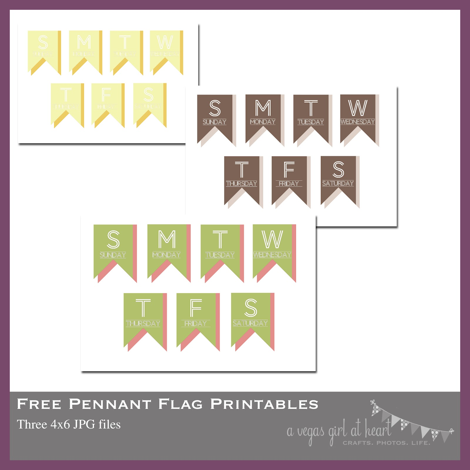 A Vegas Girl At Heart Freebie Friday Printable Pennant Flags