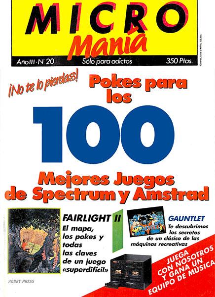 Revista Micromanía Número 20
