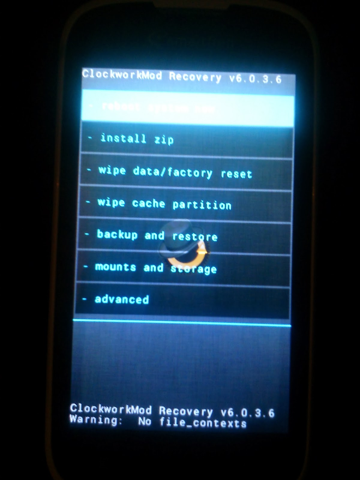 factory reset andromax