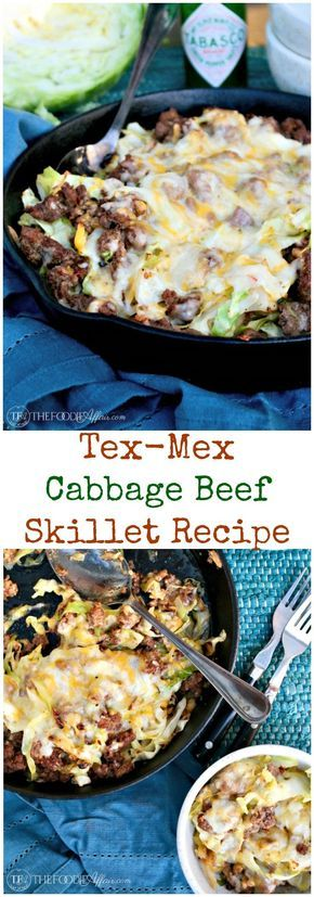 TEX MEX CABBAGE BEEF SKILLET RECIPE