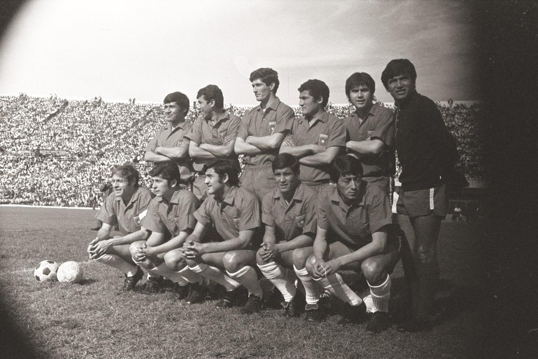 Formación de Chile ante Brasil, amistoso disputado el 4 de octubre de 1970