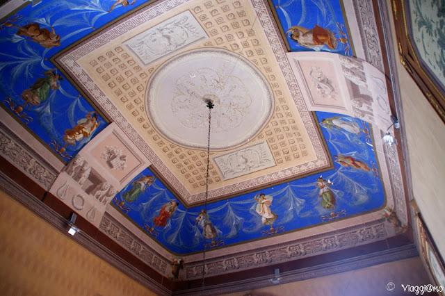 Gli affreschi sui soffitti del Castello Reale di Govone